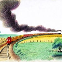 The Caboose Who got Loose by Bill Peet (Paperback & Read Along Audio CD)