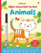 Usborne Wipe-Clean Books : Dot-to-Dot Animals by Katrina Fearn & Keith Newell (Laminated Paperback & Wipe Clean Pen)