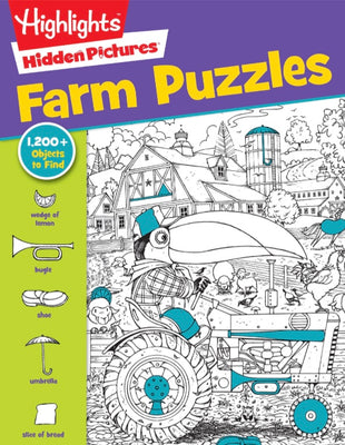 Highlights : Hidden Picture : Favorite Farm Puzzles (Paperback)