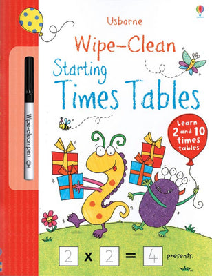 Usborne Wipe-Clean Books : Wipe-Clean Starting Times Tables by Stacey Lamb (Laminated Paperback with wipe-clean pen)