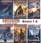 I Survived : Books 1-6 : The Sinking of the Titanic, 1912; The Shark Attacks of 1916; Hurricane Katrina, 2005; The Bombing of Pearl Harbor, 1941; The San Fransisco Earthquake, 1906; The Attacks of September 11, 2001  by Lauren Tarshis