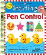 Wipe Clean Starting Pen Control by Roger Priddy Books  (Laminated Pages, Enclosed Spiral Binding, includes Pen)