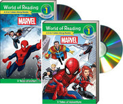 World of Reading : Level  1: 3-in-1 Listen-Along Reader : Marvel: 3 Tales of Action, 3 Tales of Adventure  (2 Paperbacks  & Audio CDs)