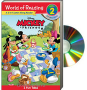 World of Reading : Level 2 : 3-in-1 Listen-Along Reader : Mickey and Friends : 3 Tales of Fun   (Paperback & Audio CD)