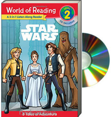 World of Reading : Level 2 : 3-in-1 Listen-Along Reader : Star Wars : 3 Tales of Adventure