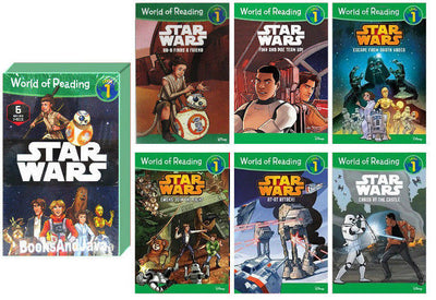 World of Reading : Level 1 : Star Wars : Escape from Darth Vader, AT-AT Attack!  Ewoks Join the Fight, Finn & Poe Team Up! Chaos at the Castle,  BB-8 Finds a Friend