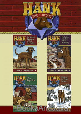 Hank the Cowdog Starter Set : Books 1-4 : The Original Adventures of Hank the Cowdog, The Further Adventures of Hank the Cowdog, It's a Dog's Life, Murder in the Middle Pasture  by John R. Erickson