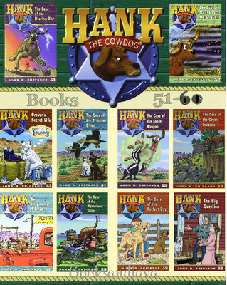 Hank the Cowdog : Books 51-60 The Case of the Blazing Sky ... by John R. Erickson (10 Paperback Book Set)