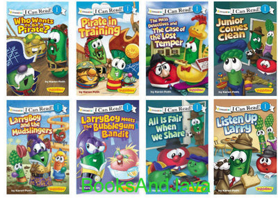 VeggieTales : LarryBoy Meets the Bubblegun Bandit, Who Wants to Be A Pirate? Pirate in Training, Listen Up Larry, The Mess Detectives and the Case of the Lost Temper, LarryBoy and the Mudslingers, All is Fair When We Share, Junior Comes Clean