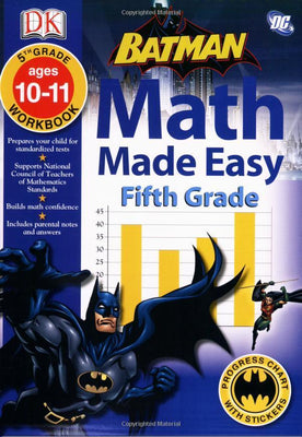 Batman Math Made Easy Fifth Grade by DK (Paperback)