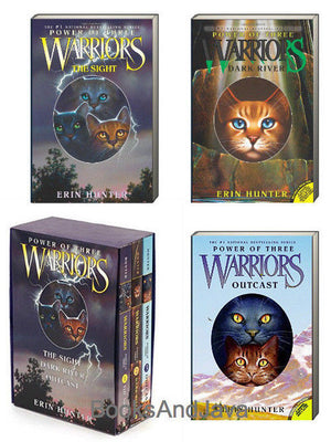 Warriors : Power of Three : Books 1-3: The Sight, The Dark River, Outcast by Erin Hunter (Box Set, 3 Paperbacks)