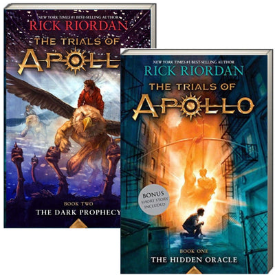 The Trials of Apollo, Book 1-2: The Hidden Oracle and The Dark Prophecy by Rick Riordan (2 Paperback Book Set)