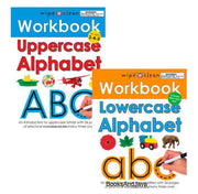 Wipe Clean Workbooks : Uppercase Alphabet and Lowercase Alphabet by Roger Priddy (2 Laminated Paperbacks with Pens)