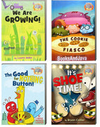 It's Shoe Time, We Are Growing, The Good For Nothing Button, and The Cookie Fiasco by Mo Willems