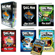 Dog Man, Dog Man Unleashed, Dog Man A Tale of Two Kitties and Dog Man and Cat Kid  by Dav Pilkey