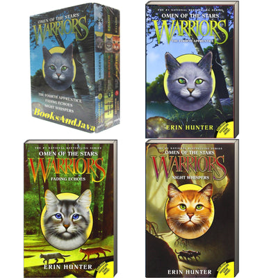 Warriors : Omen of the Stars, 1-3 : The Fourth Apprentice, Fading Echoes, Night Whispers by Erin Hunter (Box Set, 3 Paperbacks)