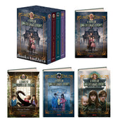 The Series of Unfortunate Events, Books 1-4 : The Bad Beginning, The Reptile Room, The Wide Window, The Miserable Mill by Lemony Snicket (Box Set, 4 Hardcovers)