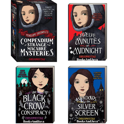 The Penelope Tidwell's Compendium of Strange and Macabre Mysteries : 1-3 : Twelve Minutes to Midnight, The Black Crow Conspiracy... by Christopher Edge (Box Set, 3 Paperbacks)