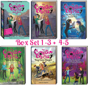 The Curious Cat Spy Club, 1-5 : The Mystery of the Zorse's Mask...by Linda Joy Singleton (Box Set of 3 + 2 Paperbacks)
