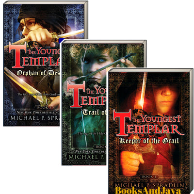 The Youngest Templar, 1-3 : Keeper of the Grail, Trail of Fate, Orphan of Destiny by Michael P. Spradlin (3 Bargain Paperback Book Set)