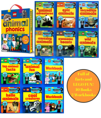 LEGO Nonfiction Animal Phonics Pack 1 : A LEGO Adventure in the Real World by Scholastic (Box Set, 12 Paperbacks)