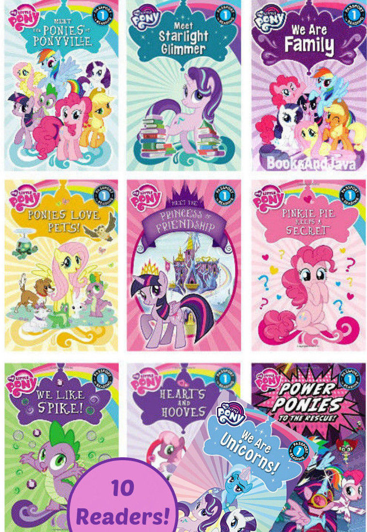 Passports to Reading, Level 1, My Little Ponies: Ponies Love Pets! Hearts and Hooves, Meet the Princess of Friendship.... by G. M. Berrow (10 Paperback Book Set)