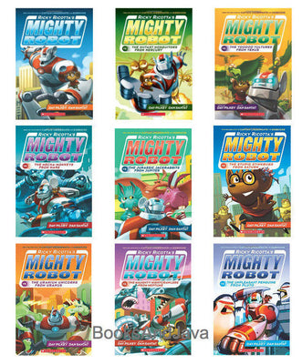 Ricky Riccota's Might Robot Complete Set : Books 1-9 : Mighty Robot, Mighty Robot vs. The Mutant Mosquitoes, Mighty Robot vs. The Voodoo Vultures from Venus....by Dav Pilkey