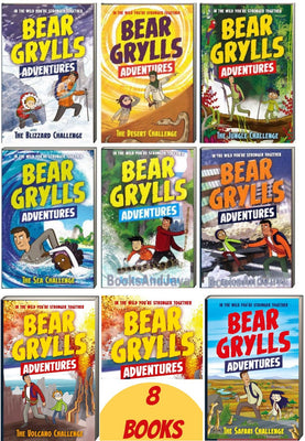 Bear Grylls Adventures 1-8 :  The Sea Challenge, The Desert Challenge, The Jungle Challenge, The Blizzard Challenge, The River Challenge, The Earthquake Challenge, The Safari Challenge, The Volcano Challenge