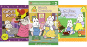 MAX & RUBY :  Max Makes a Friend, Ruby's Party, and Max's Checkup by Rosemary Wells  (3 Paperback Book Set)