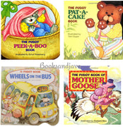 Pudgy Books : The Wheels on the Bus, Peek-A-Boo, Pat-A-Cake, Mother Goose  (4 Board Books)