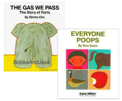 The Gas We Pass : The Story of Farts by Shinta Cho & Everybody Poops by Taro Gomi & Kane Miller