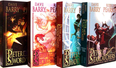 Peter and the Starcatchers Complete Set  1-4 : Peter and the Shadow Thieves, Peter and the Secret of Rundoon, Peter and the Sword of Mercy by Dave Barry and Ridley Pearson (4 Paperback Book Set)