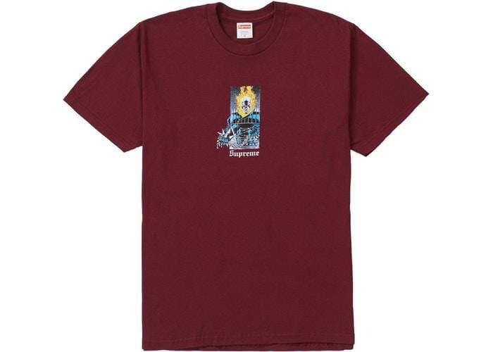 3c9e9114f607 KXSTART LAS VEGAS MEN TOPS MEDIUM SUPREME - GHOST RIDER TEE (BURGUNDY)