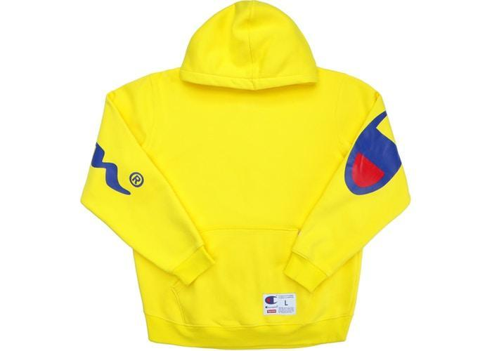 a23c39bcd58 SUPREME MEN OUTERWEAR SMALL SUPREME CHAMPION - HOODED SWEATSHIRT (YELLOW)