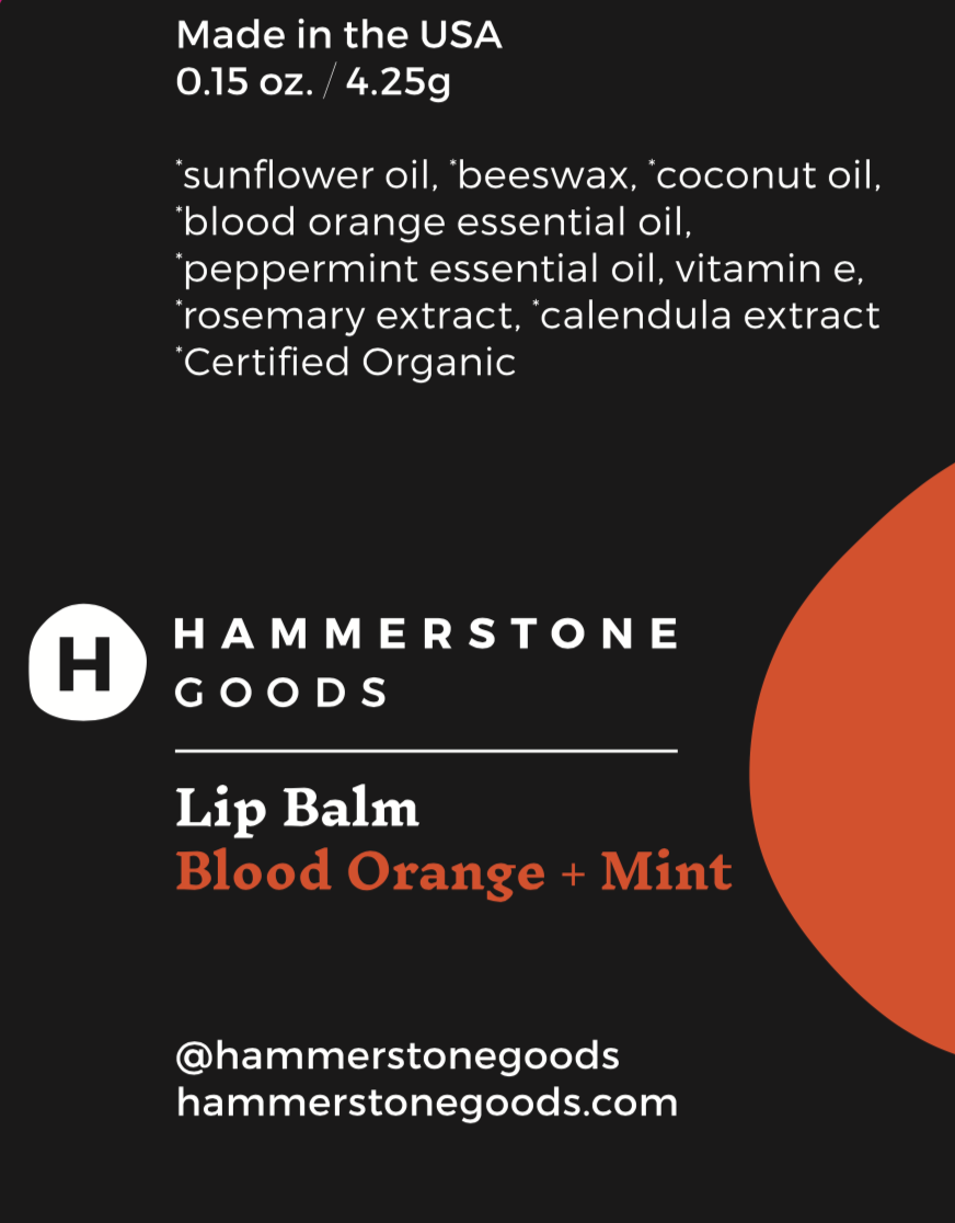 Lip Balm - Blood Orange + Mint