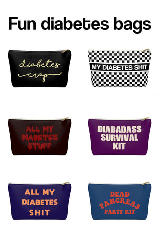 Diabetes Supply Bags, Diabetic Supply Bags, Fun Insulin Supply Case Bags, Type 1 Diabetes
