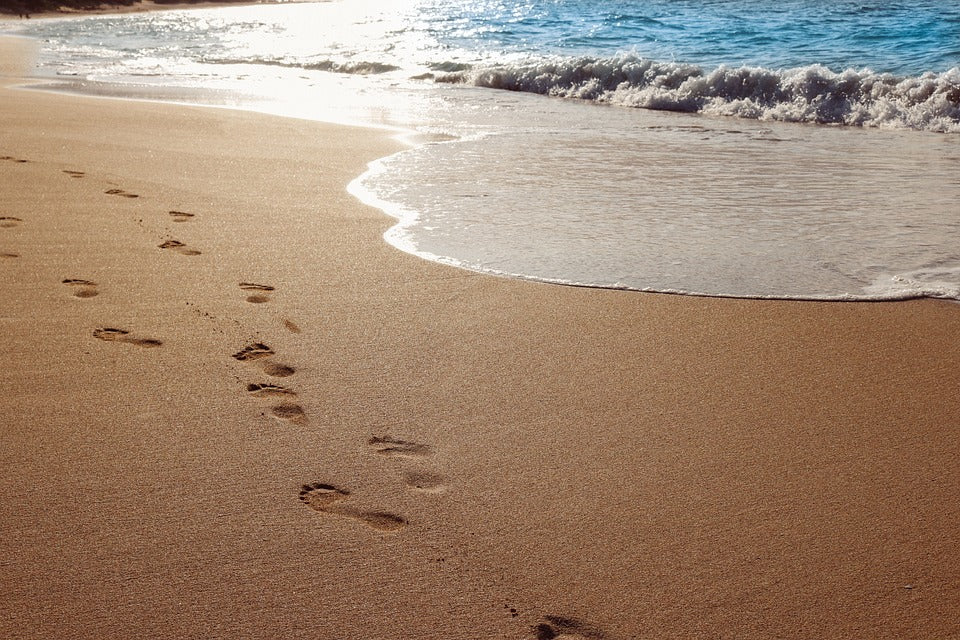 Enjoy the ocean and leave only footprints