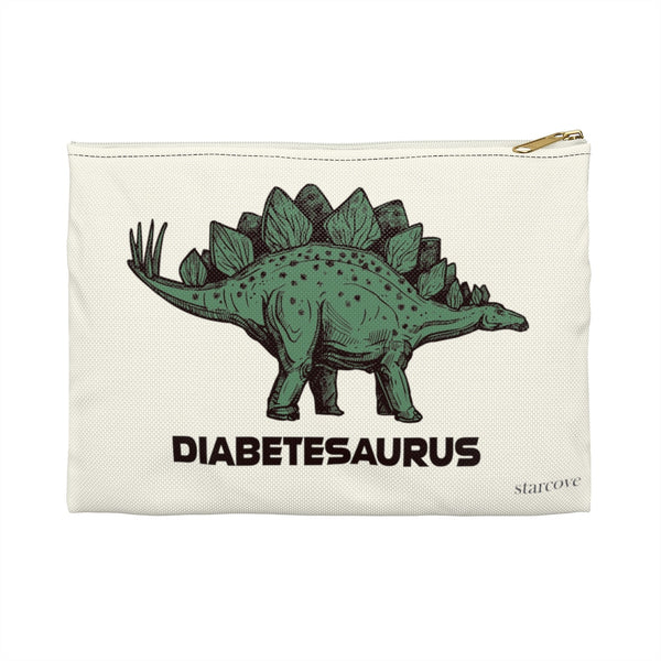 Dinosaur Diabetes Supply Bag, Funny Dino Diabetesaurus Diabetic Type 1 One Carry Travel Case Accessory Kids Boys Girls Meds Zipper Pouch - Starcove Design
