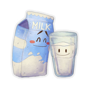 Carton Of Milk Sticker, Laptop Decal Vinyl Cute Waterbottle Tumbler Car Waterproof Bumper Aesthetic Die Cut Wall Mural
