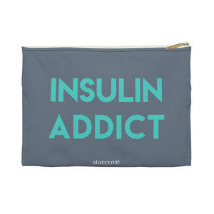 Insulin Addict, Diabetes Supply Bag, Fun Diabetic Supply Case, Type 1 Diabetes, Accessory Pouch Gift