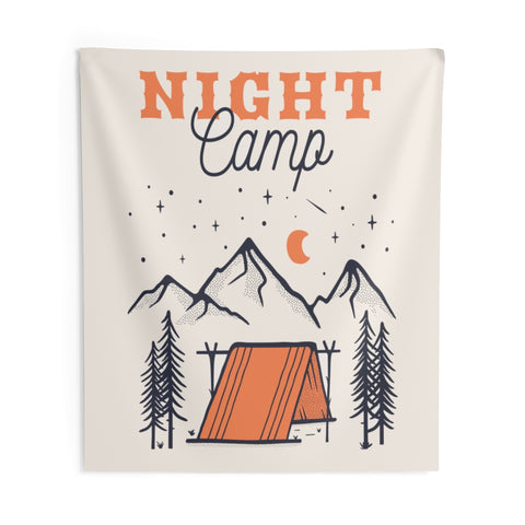 Camping Tapestry, Mountain Hiking Vertical Outdoor Indoor Wall Art Hanging Tapestries Large Small Decor Home Dorm Room Gift