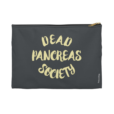 Dead Pancreas Society Bag, Diabetes Supply Bag, Fun Diabetic Supply Case, Cute Carrying Case Gift, Type 1 Diabetes Accessory Zipper Pouch Bag