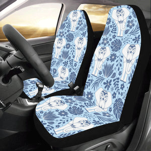Elephant Car Seat Covers Set of 2pcs, Blue Mandala Seat Cover Cute Front Seat Covers, Car SUV Vans Seat Protector Accessory - Starcove Design
