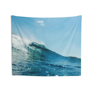 Ocean Sea Wave Tapestry, Blue Sky Surf Spray Landscape Indoor Wall Art Hanging Tapestries Décor Home Dorm Gift - Starcove Design