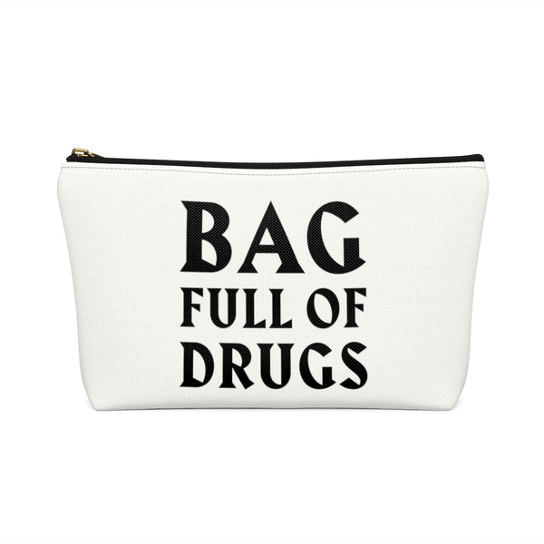 Bag Full of Drugs Medical Bag, Funny Medicinal Hospital Sick Men Gift Supply Case Accessory Medication Get Well Travel Zipper Canvas Pouch w T-bottom - Starcove Design