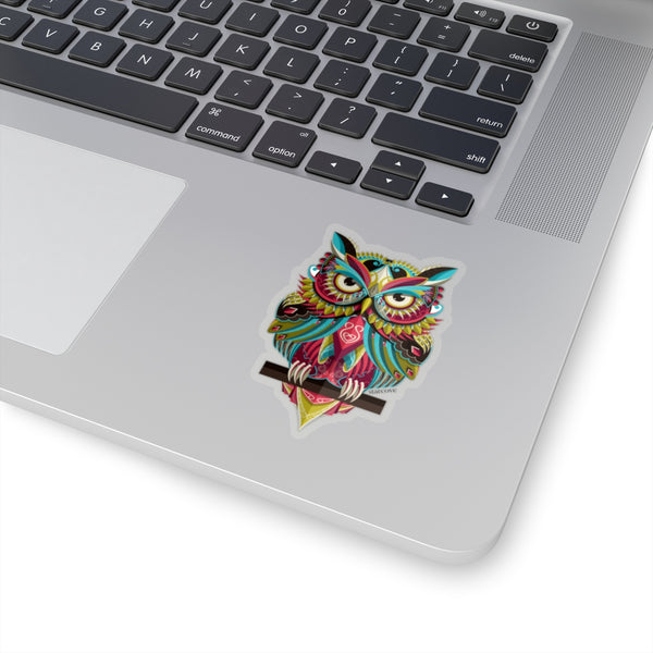 Owl Vinyl Sticker, Bird Animal Kiss-Cut Stickers Laptop Vinyl Cute Waterproof for Waterbottle Tumbler Car Bumper Aesthetic Label Wall Decal - Starcove Design
