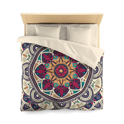 Mandala Duvet Cover, Boho Bohemian Microfiber Full Queen Twin Unique Vibrant Bed Cover Home Bedding Bedroom Decor