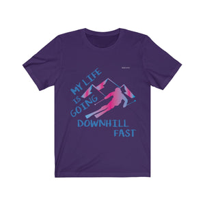 My Life is Going Downhill Fast Shirt, Funny Skiers Skiing I Love Alpine Ski Winter Sports Snow Vacation Slopes Freestyle Gift - Starcove Design