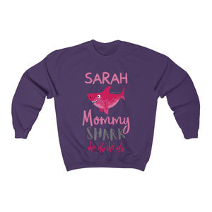 Custom Mommy Shark Sweater, Baby Shark Custom Name Text Matching Family Birthday Mother Mama New Mom To Be Gift - Starcove Design