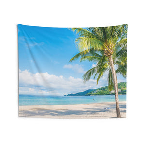 Tropical Beach Tapestry, Island Sun Ocean Landscape Indoor Wall Art Hanging Tapestries Large Decor Home Dorm Room Gift - Starcove Design